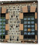 Windows With Steel Grates Acrylic Print