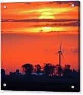 Windpower Sunrise Acrylic Print