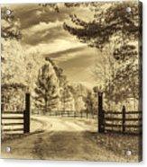 Windstone Farm - Sepia Acrylic Print