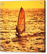 Windsurfer At Sunset Acrylic Print