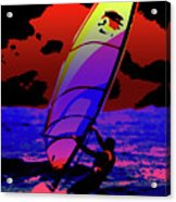 Windsurfer Acrylic Print by Brian Roscorla