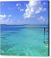 Windsurfing The Islands Acrylic Print