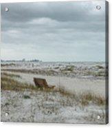 Windswept Lido Beach Florida Acrylic Print