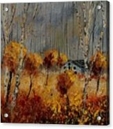 Windy Autumn Landscape  Acrylic Print
