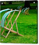 Windy Chairs Acrylic Print by Harry Spitz