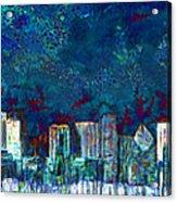 Windy Chicago Illinois Skyline Party Nights 20180516 Acrylic Print