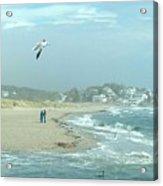 Windy Day At Good Harbor Beach Acrylic Print