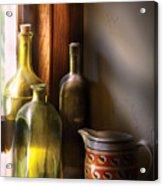 Wine - Three Bottles Acrylic Print by Mike Savad