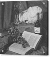 Wine And A Book Acrylic Print