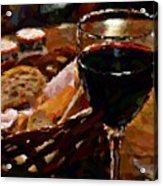 Wine And Bread Acrylic Print
