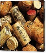 Wine And Champagme Corks Acrylic Print