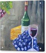 Wine And Cheese Acrylic Print
