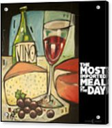 Wine And Cheese Imported Meal Acrylic Print