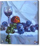 Wine And Fresh Fruits Acrylic Print