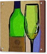 Wine And Glass Acrylic Print