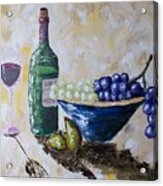 Wine And Grapes Acrylic Print