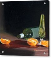 Wine And Oranges Acrylic Print