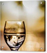 Wine And Sunset Acrylic Print