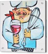Wine And Wisk Chef Acrylic Print