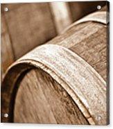 Wine Barrel In Cellar Acrylic Print