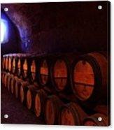Wine Barrels In Napa Acrylic Print