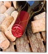 Wine Bottle And Corks Acrylic Print