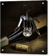 Wine Bottle, Corkscrew And Cork Acrylic Print