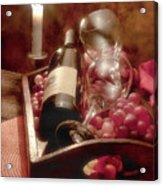 Wine By Candle Light II Acrylic Print by Tom Mc Nemar