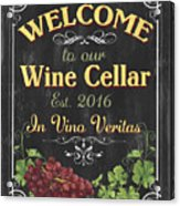 Wine Cellar Sign 1 Acrylic Print