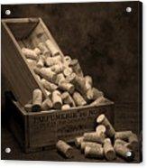 Wine Corks Still Life I Acrylic Print by Tom Mc Nemar
