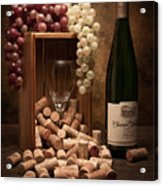 Wine Corks Still Life II Acrylic Print by Tom Mc Nemar