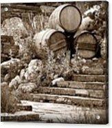 Wine Country Sepia Vignette Acrylic Print