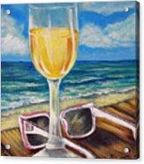 Wine Ding Down Acrylic Print