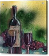 Wine For Two Acrylic Print by Sharon Mick