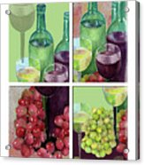 Wine From Grapes Collage Acrylic Print