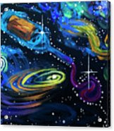 Wine Galaxy Acrylic Print