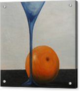 Wine Glass And Orange Acrylic Print