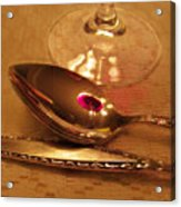 Wine In The Spoon Acrylic Print