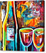 Wine Lovers Abstract Acrylic Print