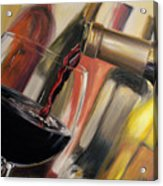 Wine Pour II Acrylic Print by Donna Tuten