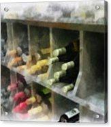 Wine Rack Mixed Media 01 Acrylic Print