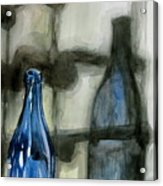 Wine Rack Shadows Acrylic Print
