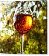 Wine Reflections Square Acrylic Print