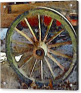 Wine Wagon Wheel Acrylic Print