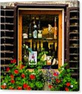 Wine Window Acrylic Print