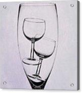 Wineglass Trio Acrylic Print