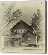 Winery In Sepia Acrylic Print