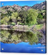 Winery Pond Reflections Acrylic Print