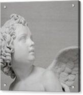 Winged Cherub Acrylic Print