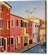 Wingin It In Venice Acrylic Print